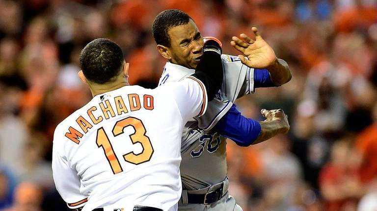 Manny Machado #13 of the Baltimore Orioles and
