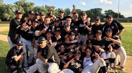 Wantagh Baseball team celebrates its Class A Championship.