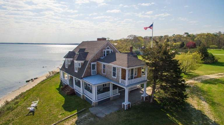 The historic waterfront estate in Hampton Bays served