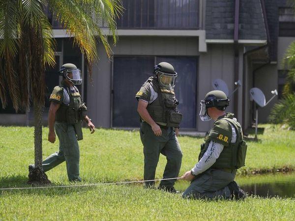 A Bomb Disposal Unit checks on June 12,
