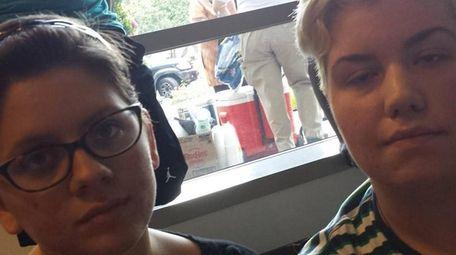Tiffany Smith, 20, and Laura Caicedo, 21, turn