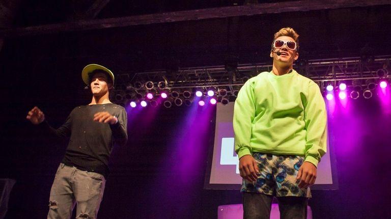Teen YouTube stars Ethan Dolan, left, and Grayson
