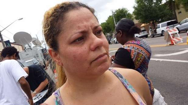 With tears in her eyes, Lesley Rossner, 42,