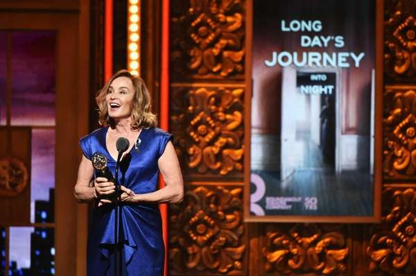 Actress Jessica Lange accepts the award for Best