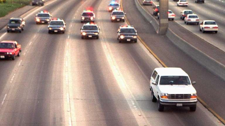 A white Ford Bronco, driven by Al Cowlings