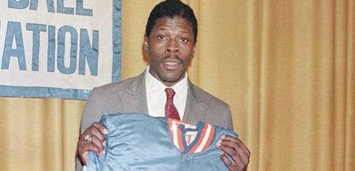 Patrick Ewing is shown at the NBA Draft