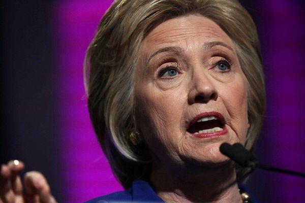 Presumptive Democratic presidential nominee Hillary Clinton in Washington,