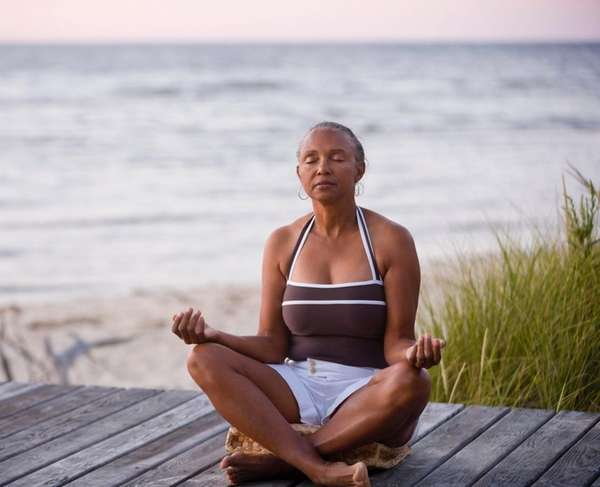 Relaxing meditation in a natural environment may help