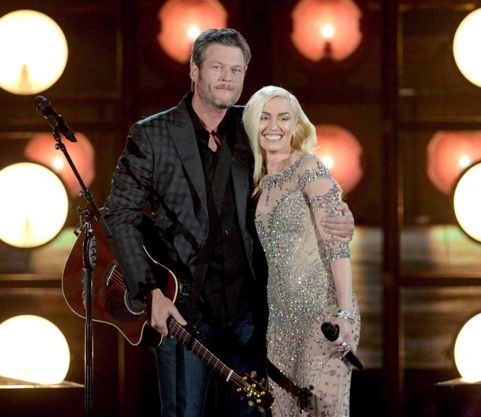 Country music star Blake Shelton and pop singer