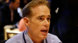 Joe Buck speaks during an interview at the