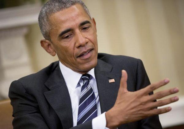 President Barack Obama speaks to members of the