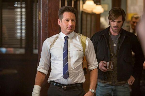 David Duchovny (Sam Hodiak), left, here with Grey