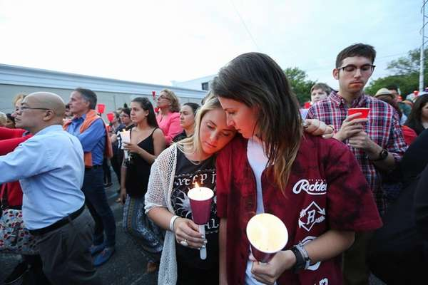 Alex Passante of Bay Shore, 17, left, and