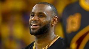 LeBron James #23 of the Cleveland Cavaliers smiles