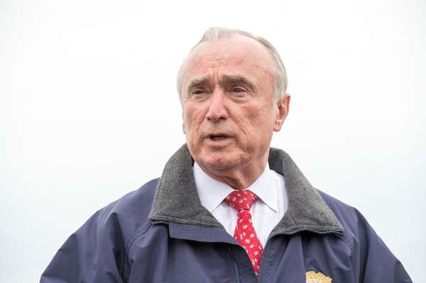 New York Police Commissioner Bill Bratton is seen