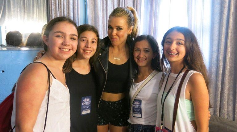 Singer Rachel Platten backstage at Jones Beach with
