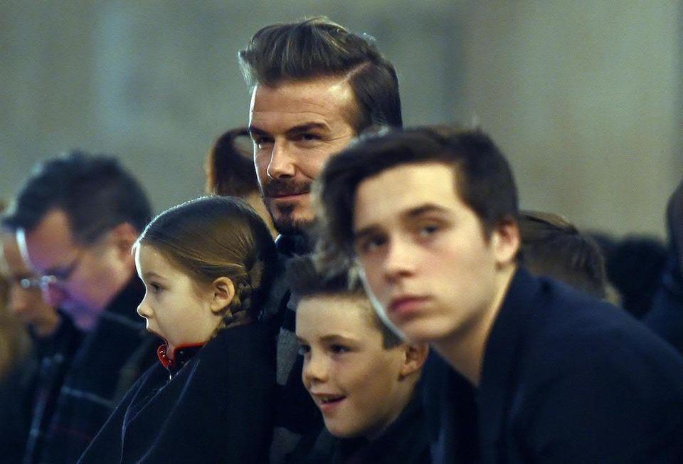 British soccer player David Beckham and former Spice