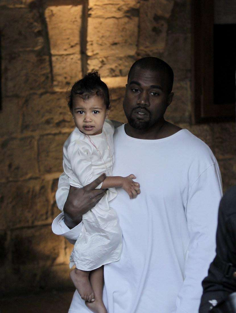 Rapper Kanye West and his reality-TV star wife,