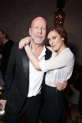 Actor Bruce Willis has three daughters with ex-wife
