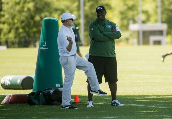 New York Jets head coach Todd Bowles and