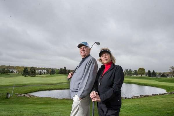 Avid golfers Paul and Vera Valentino at The