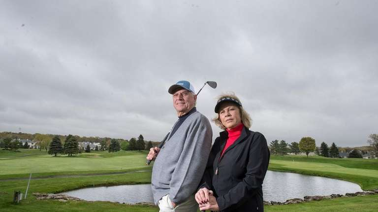 Avid golfers Paul and Vera Valentino at The