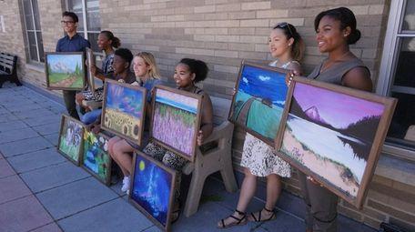 Baldwin High School students, including senior Alenzia Thigpen,