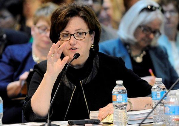 New York State Education Commissioner MaryEllen Elia speaks