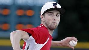 Nassau County starting pitcher Kyle Young of St.