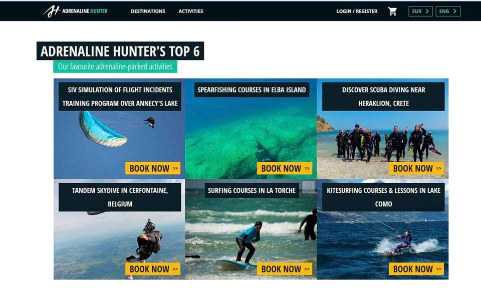 NAME adrenaline-hunter.com WHAT IT DOES The website is