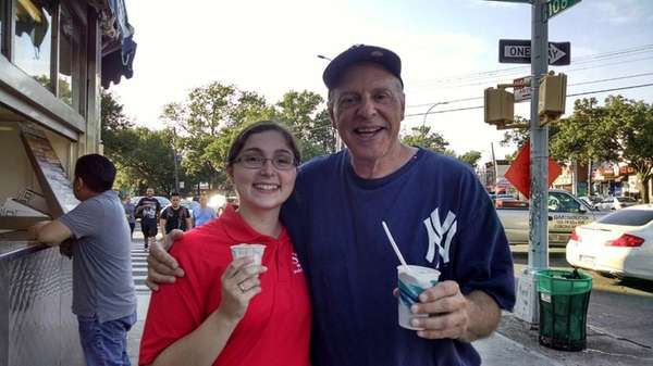 Marc Young of Floral Park with his daughter