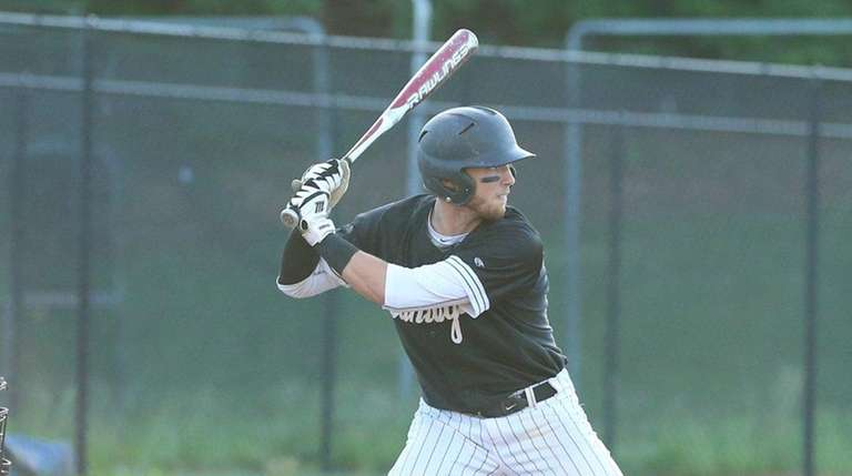 Wantagh's Jimmy Joyce batting in the first inning
