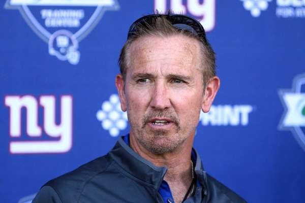 New York Giants defensive coordinator Steve Spagnuolo speaks