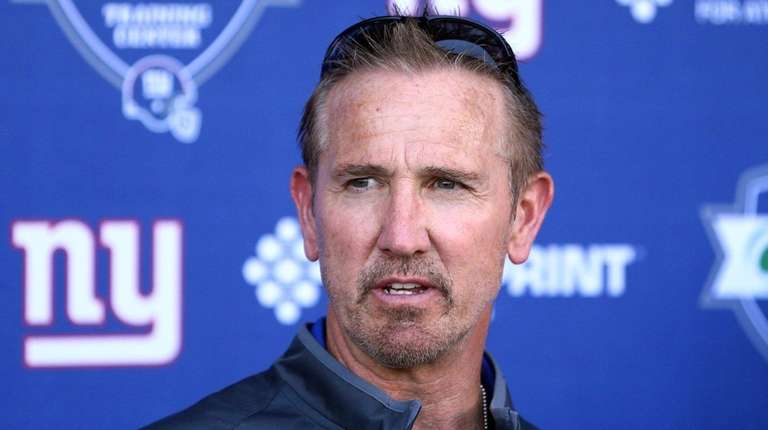 New York Giants defensive coordinator Steve Spagnuolo speaks