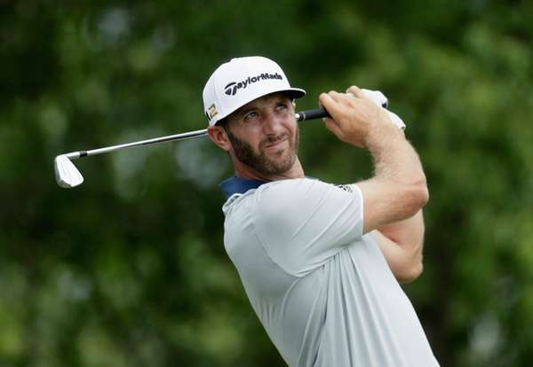 Dustin Johnson, practicing at Oakmont on Wednesday,