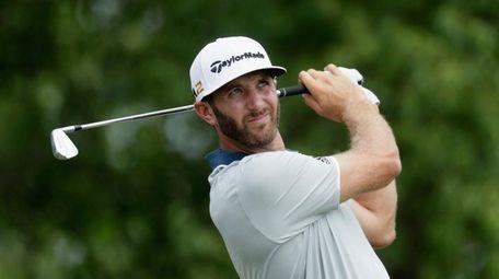 Dustin Johnson, practicing at Oakmont on Wednesday,