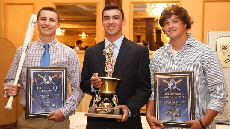From left, Smithtown West's Nick Grande, who won