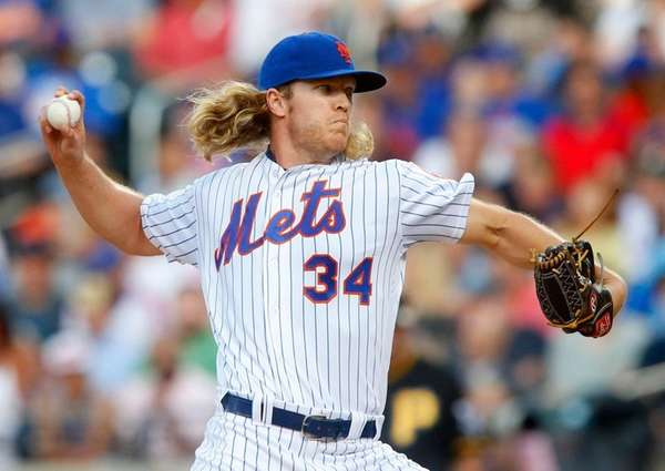 Noah Syndergaard struck out 11 in 8 1⁄3