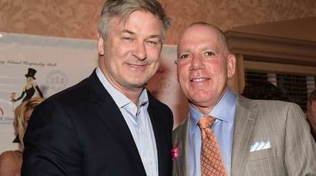 Alec Baldwin poses with event founder Keith Hart