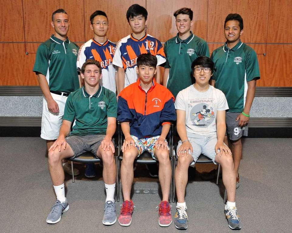 The Newsday All-Long Island boys badminton team poses