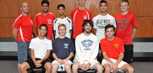 The Newsday All-Long Island boys tennis team poses