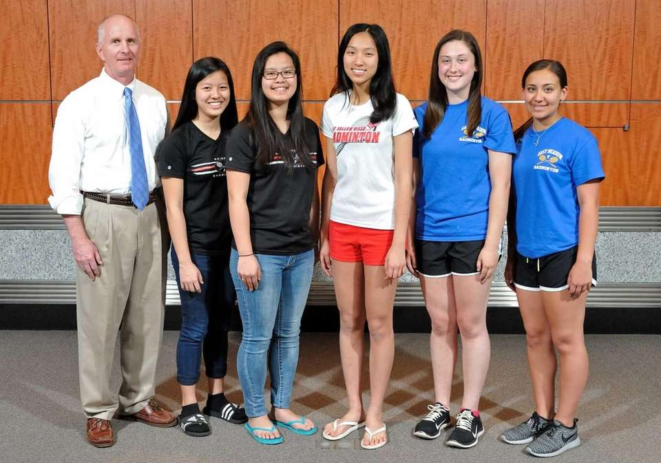 The Newsday All-Long Island girls badminton team poses