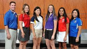 The Newsday All-Long Island girls golf team poses