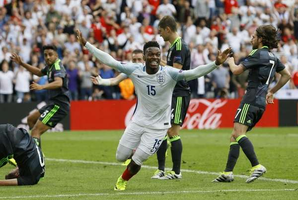 England's Daniel Sturridge celebrates after scoring his side's
