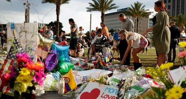 A memorial grows outside the Pulse nightclub in