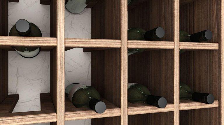 Convert a coat closet into a wine cellar
