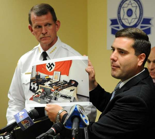 At Yaphank news conference, Suffolk County Police Commissioner