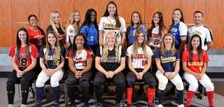The Newsday All-Long Island softball team poses for