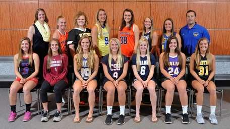 The Newsday All-Long Island girls lacrosse team poses