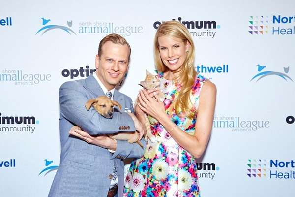Brian Balthazar and Beth Stern show off puppy